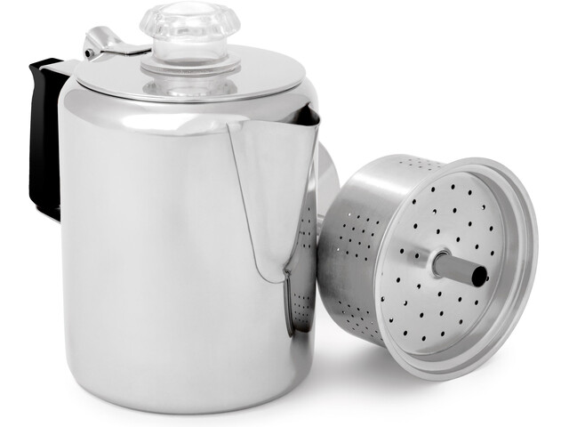 GSI Glacier Stainless Perkolator für 3 Tassen 400ml mit Silikongriff